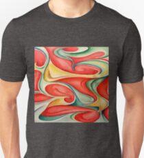 Acuarela 3 Camiseta ajustada