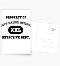 Property of 221B Baker Street - Detective Dept. Postcards