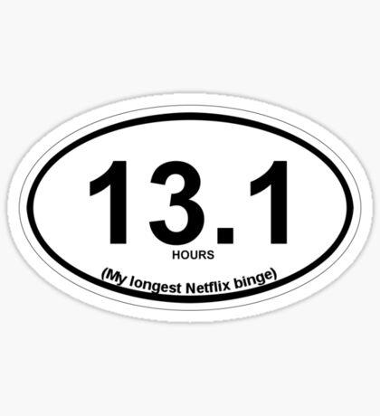 13.1 My longest Netflix binge Sticker