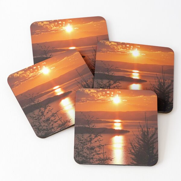 Sunset from Boulder Road Coasters (Set of 4)