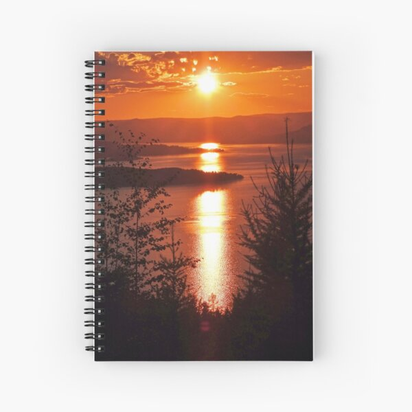Sunset from Boulder Road Spiral Notebook