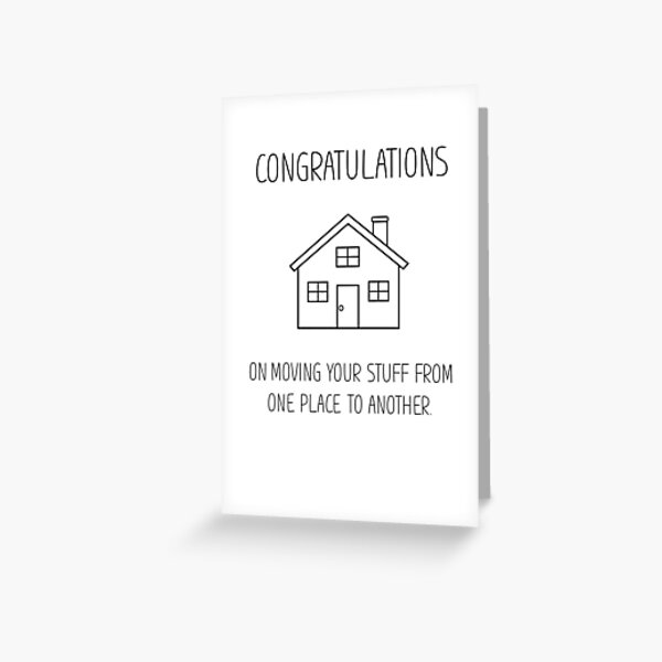 new start hand drawn illustration New Home Card moving card fun blue doodle sketch Moving card