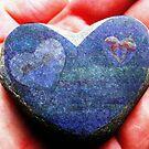 Chalk Blue Heart in Hand by LoveRockResidue