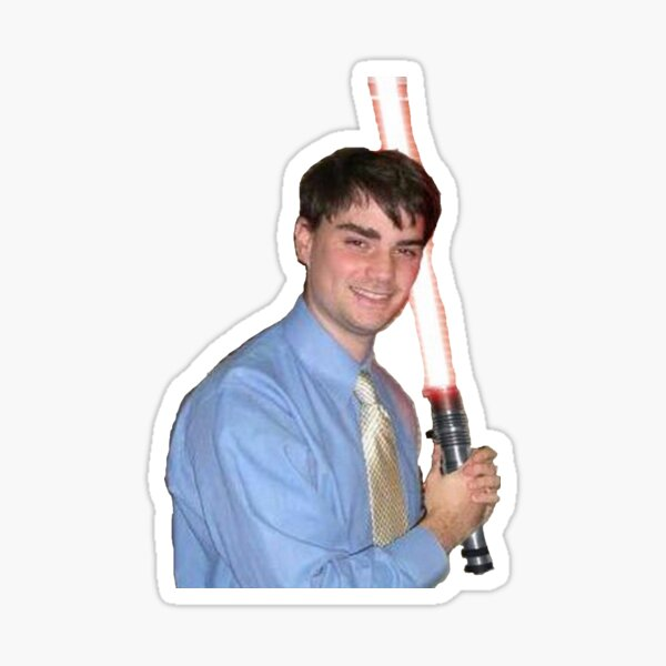 Ben Shapiro Holding Lightsaber Sticker