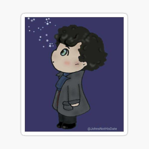 Sherlock and stars Sticker