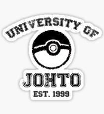 University of Johto Sticker