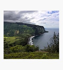 Waipio Bay Photographic Print
