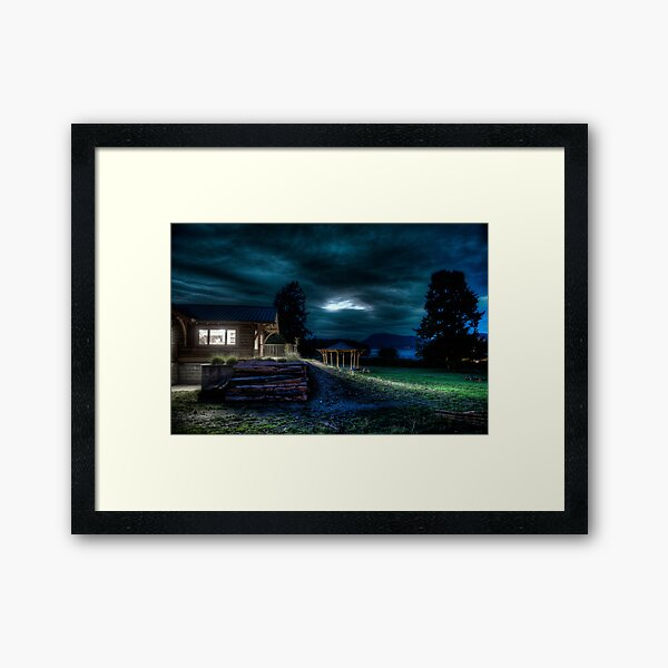 Opening Night at the Library Framed Art Print
