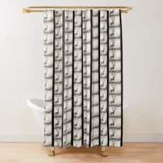 the Braindeer Stands Alone Shower Curtain