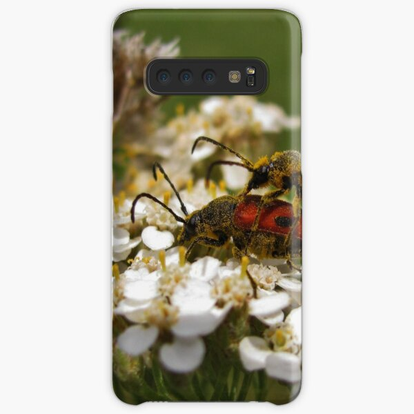 Longhorned beetles mating on Yarrow Samsung Galaxy Snap Case