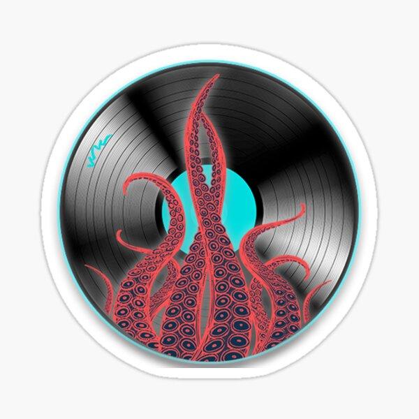 Octopus Vinyl Record Sticker