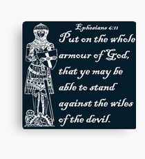 THE WHOLE ARMOUR OF GOD Canvas Print