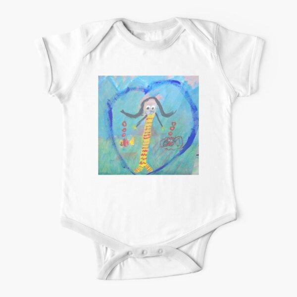 Mermaid Love - The Ocean & Fish Kid Short Sleeve Baby One-Piece