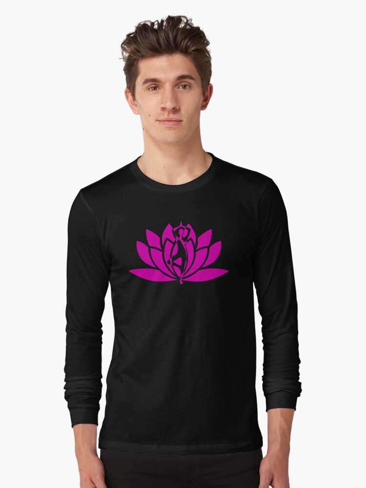 Pink Lotus Yoga Pose Spiritual Meditation T Shirt By Swaghut Redbubble