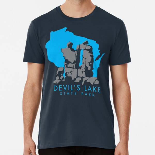 Devil's Lake State Park Baraboo County Wisconsin State Background Premium T-Shirt