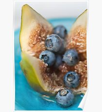 Fig and Blueberries Poster