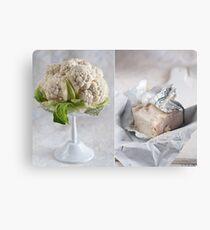 Cauliflower and cheese Canvas Print
