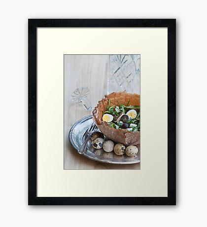 Bowl of Salad Framed Print
