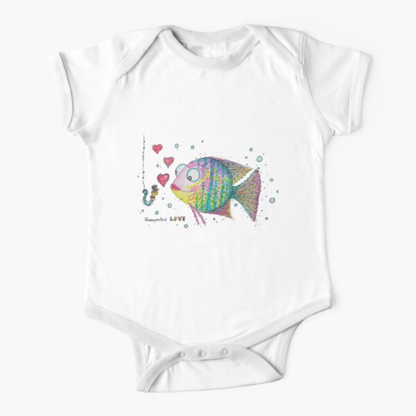 Unexpected LOVE Short Sleeve Baby One-Piece