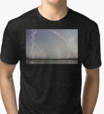 Positive Pink Lightning Strikes Tri-blend T-Shirt