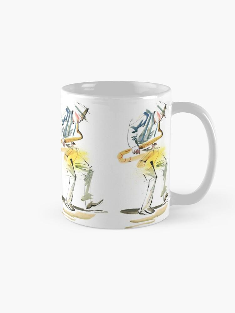 Alternate view of Saxophone Musician art Mug