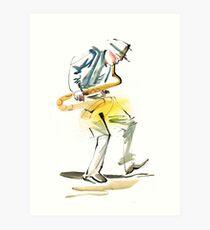 Saxophone Musician art Art Print