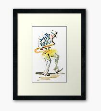 Saxophone Musician art Framed Print