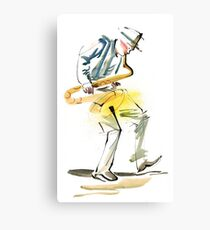 Saxophone Musician art Canvas Print