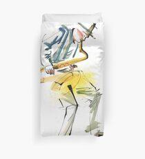 Saxophone Musician art Duvet Cover
