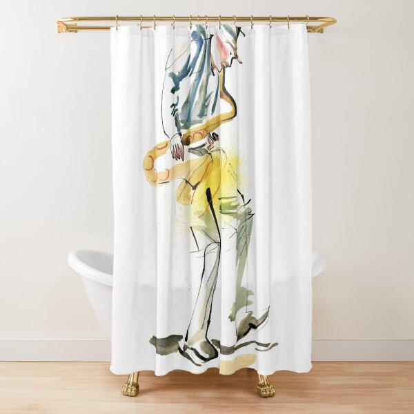 Saxophone Musician art Shower Curtain
