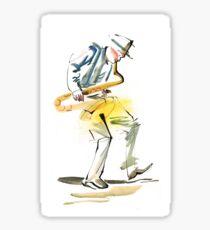 Saxophone Musician art Glossy Sticker