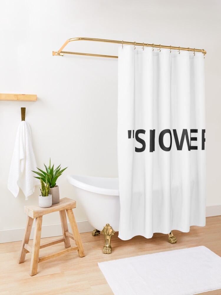 Alternate view of Shower Quotation Marks Shower Curtain