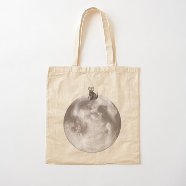 Lost in a Space / Moonelsh Cotton Tote Bag