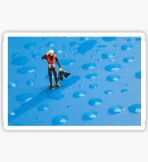 The Diver Among Water Drops Sticker