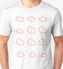 Roof Forms 3D T-Shirt
