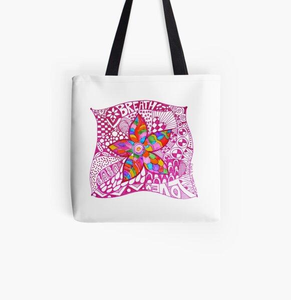Breathe Love All Over Print Tote Bag