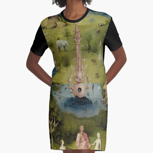 The Garden of Earthly Delights - Hieronymus Bosch Graphic T-Shirt Dress