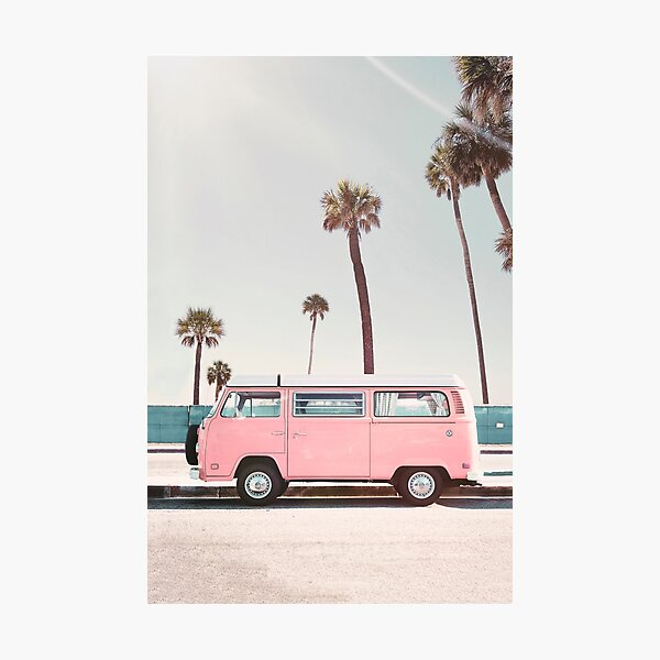 Pink Van Photographic Print