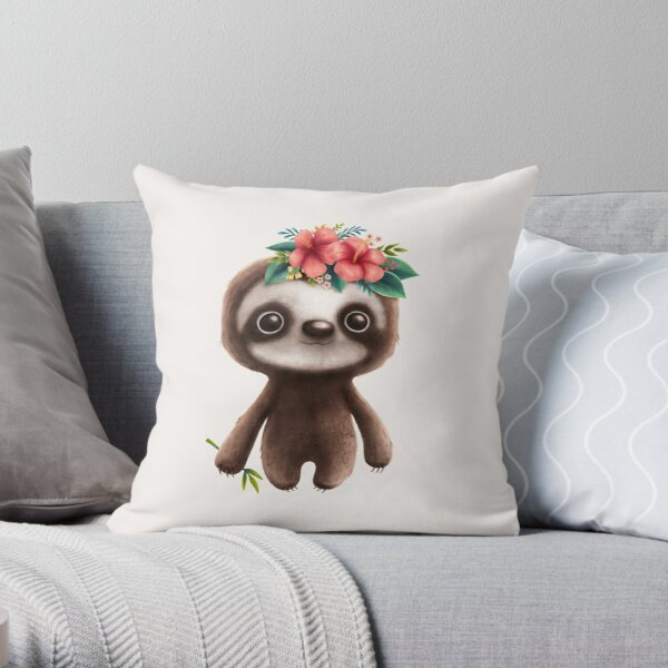 Cute sloth Dekokissen
