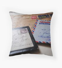 Postmarks Throw Pillow