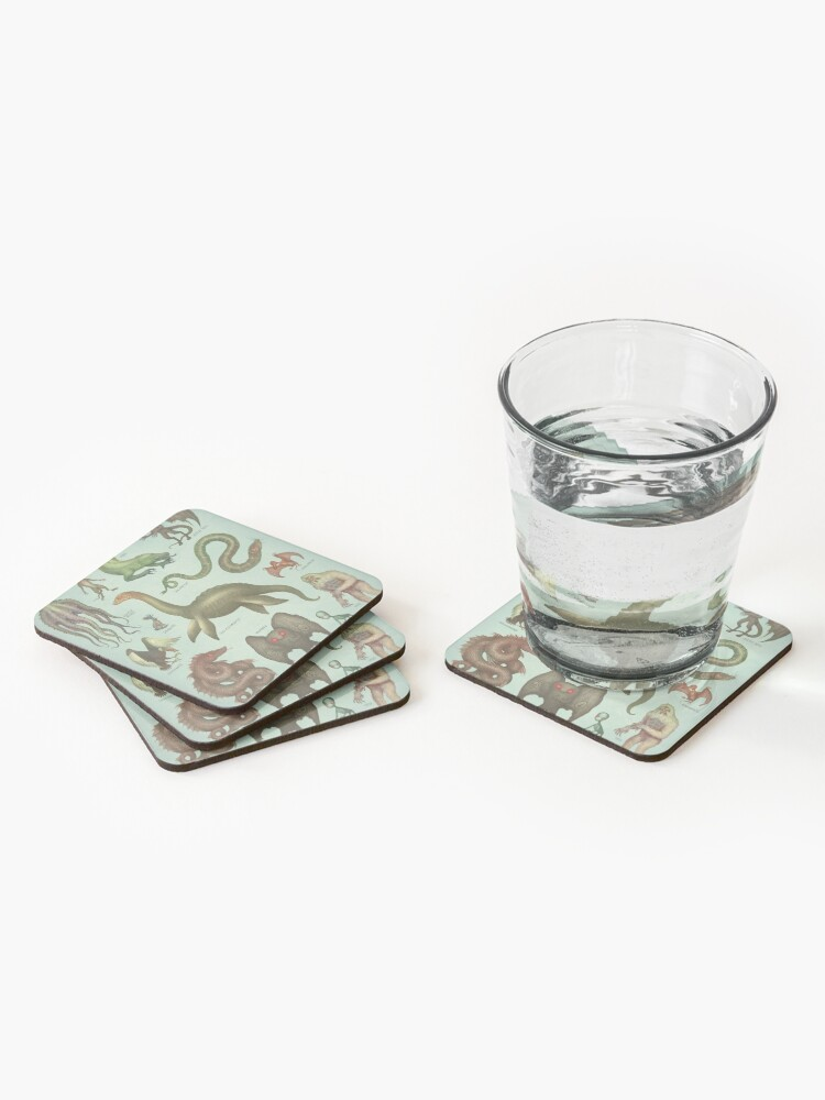 Alternate view of Cryptids Coasters (Set of 4)