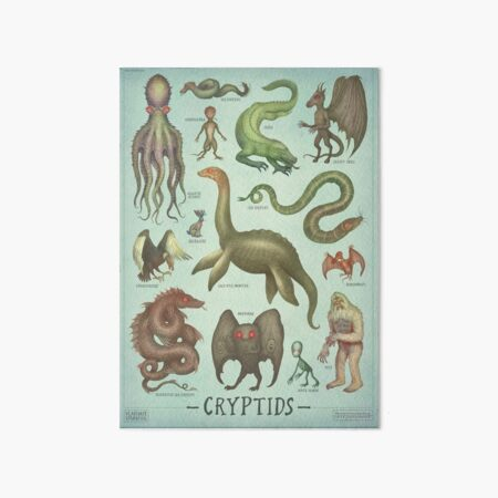 Cryptids - Cryptozoology species Art Board Print