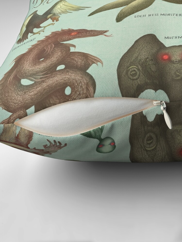 Alternate view of Cryptids Throw Pillow