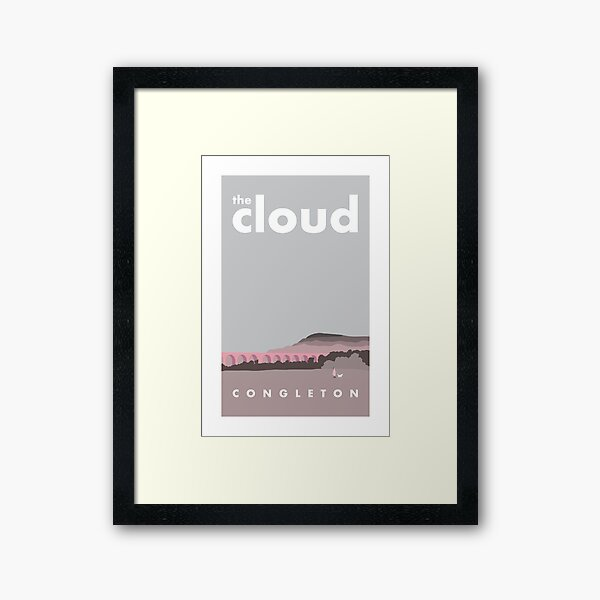 THE CLOUD, CONGLETON Framed Art Print