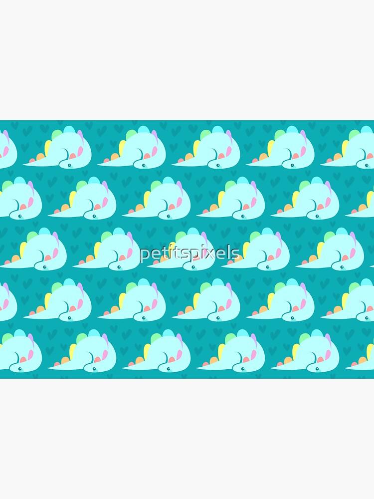 Cute rainbow stegosaurus by petitspixels