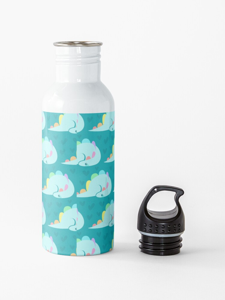 Alternate view of Cute rainbow stegosaurus Water Bottle
