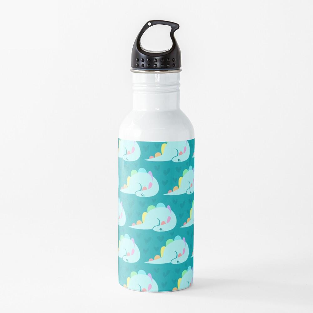 Cute rainbow stegosaurus Water Bottle