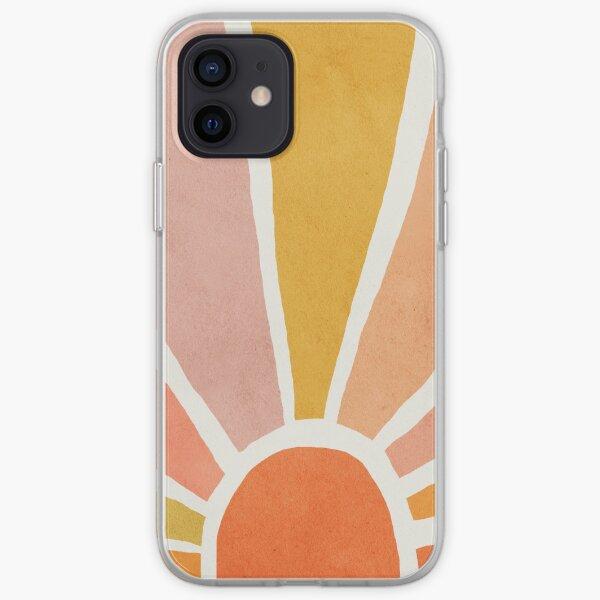 Sun, Abstract, Mid century modern kids wall art, Nursery room iPhone Soft Case