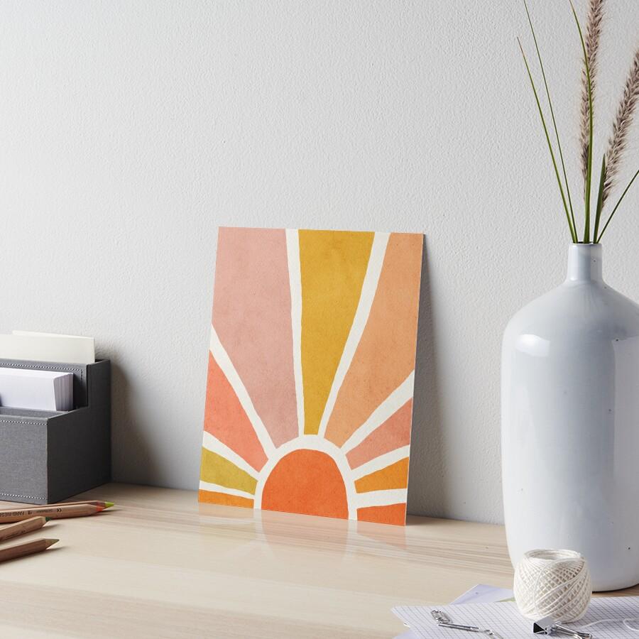 Sun, Abstract, Mid century modern kids wall art, Nursery room Art Board Print