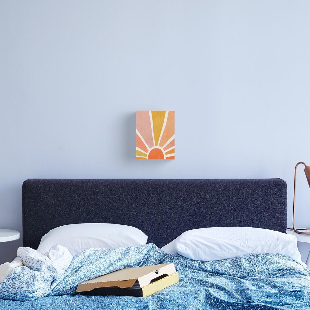 Sun, Abstract, Mid century modern kids wall art, Nursery room Canvas Print